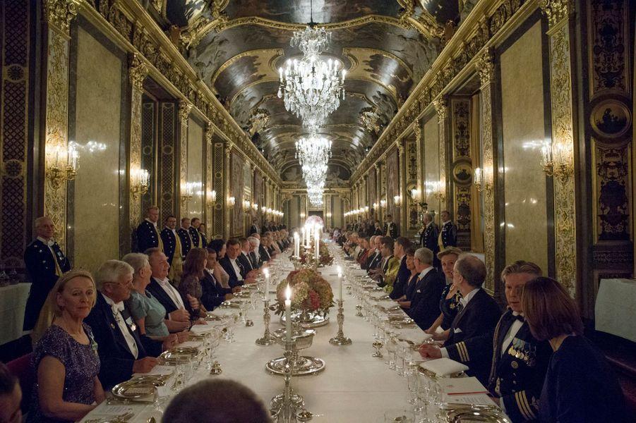 Banquet d'Etat pour le président tunisien au Palais royal à Stockholm, le 4 novembre 2015