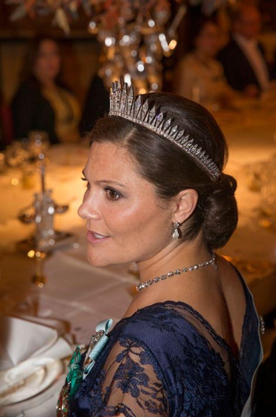 La princesse Victoria de Suède au Palais royal à Stockholm, le 4 novembre 2015