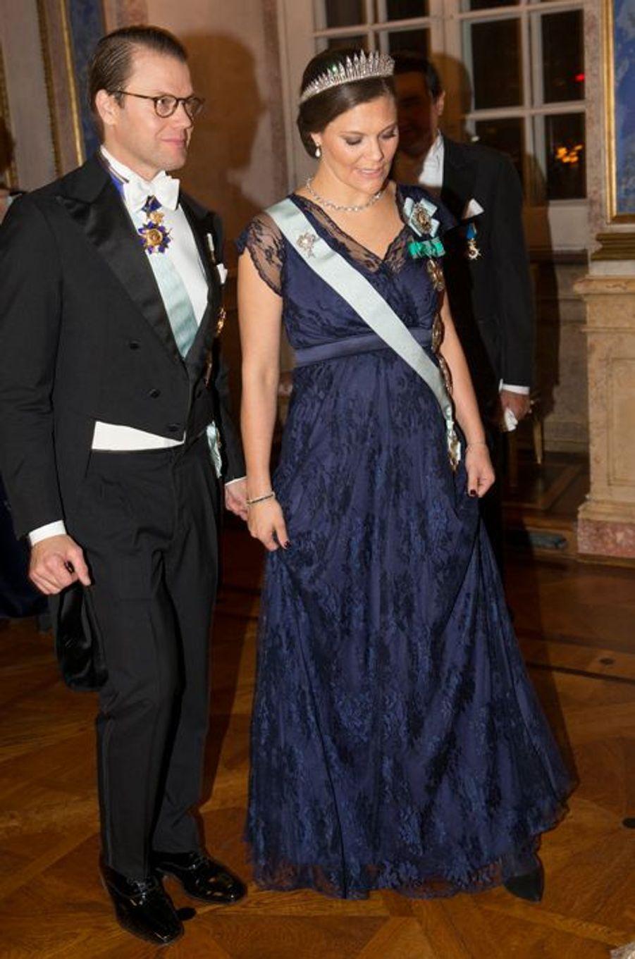 La princesse Victoria de Suède et le prince consort Daniel au Palais royal à Stockholm, le 4 novembre 2015