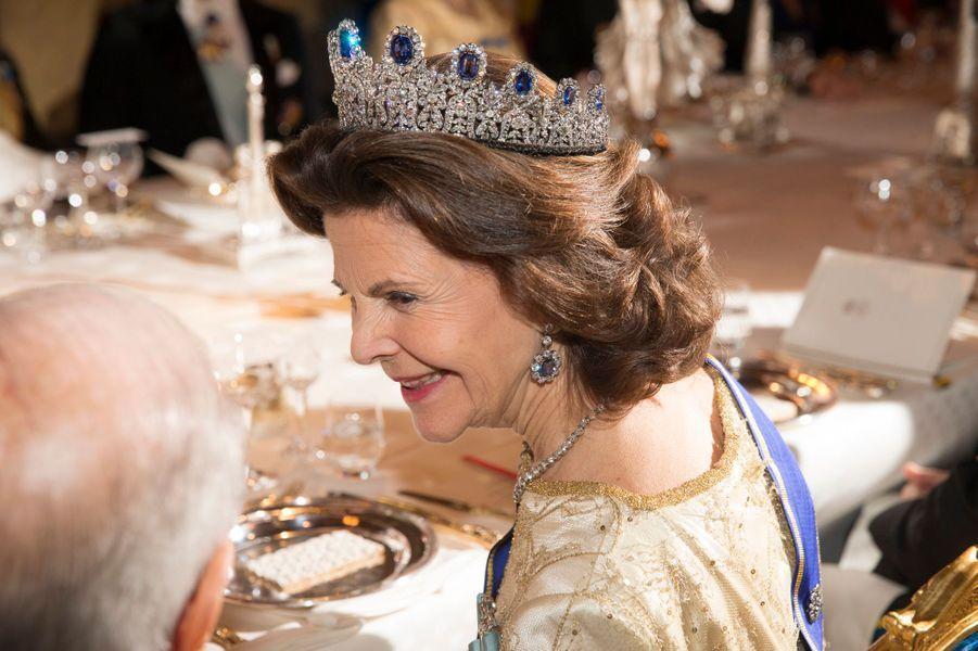 La reine Silvia de Suède au Palais royal à Stockholm, le 4 novembre 2015