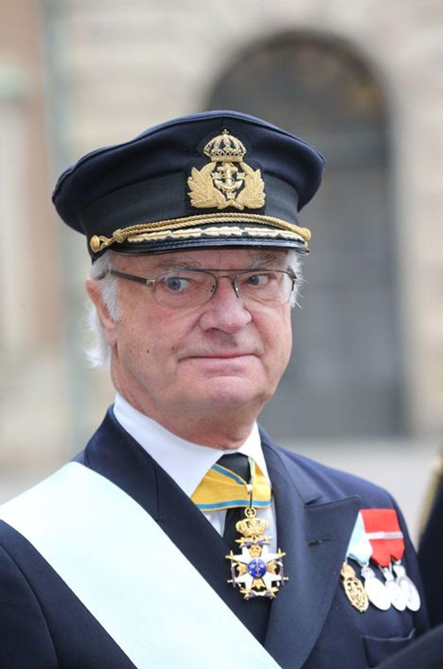 Le roi Carl XVI Gustaf de Suède à Stockholm, le 4 novembre 2015