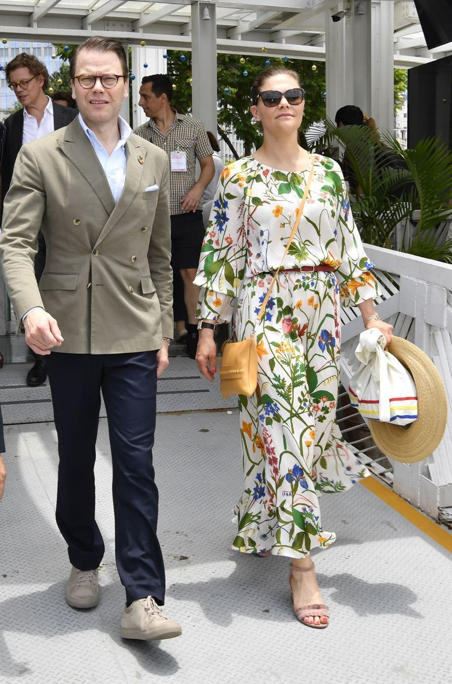La princesse Victoria de Suède dans une robe Rodebjer à Hô Chi Minh-Ville, le 8 mai 2019