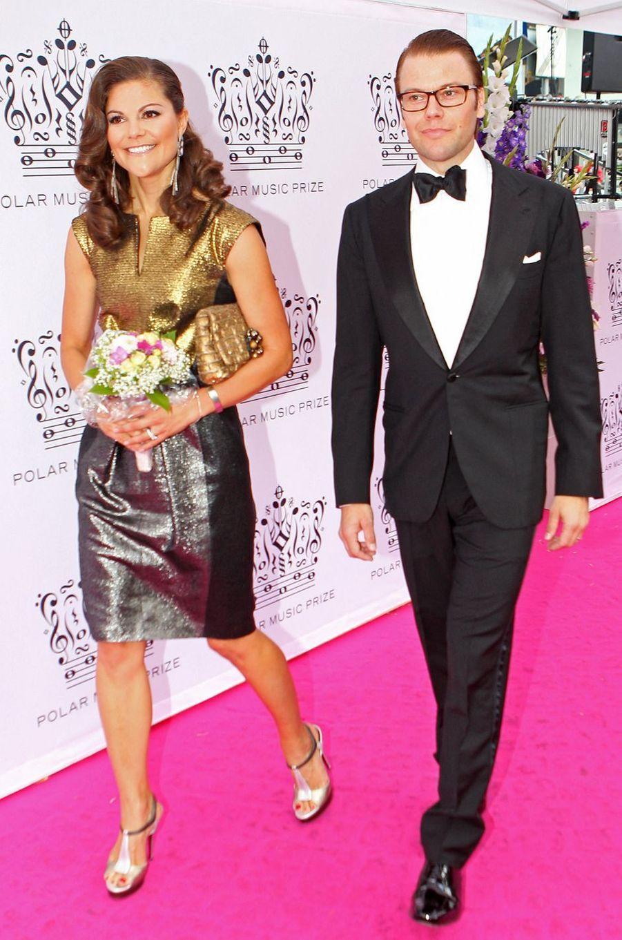 La princesse Victoria de Suède dans une robe Escada au Polar Music Prize, le 31 août 2010