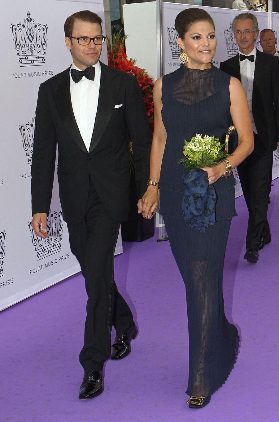 La princesse Victoria de Suède dans une robe Ann Sofie Back au Polar Music Prize, le 30 août 2011