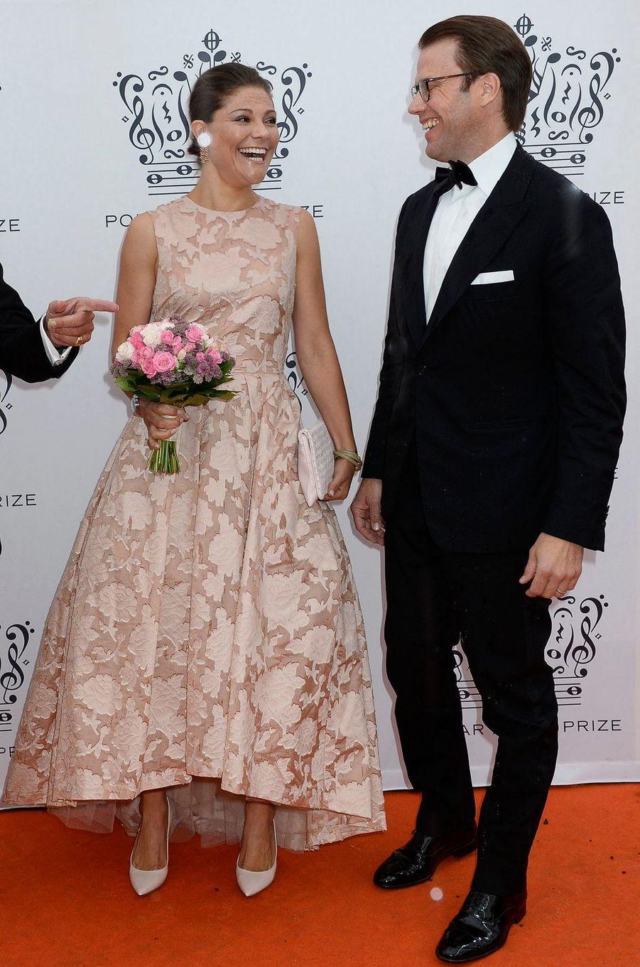 La princesse Victoria de Suède dans une robe H&M au Polar Music Prize, le 26 août 2014