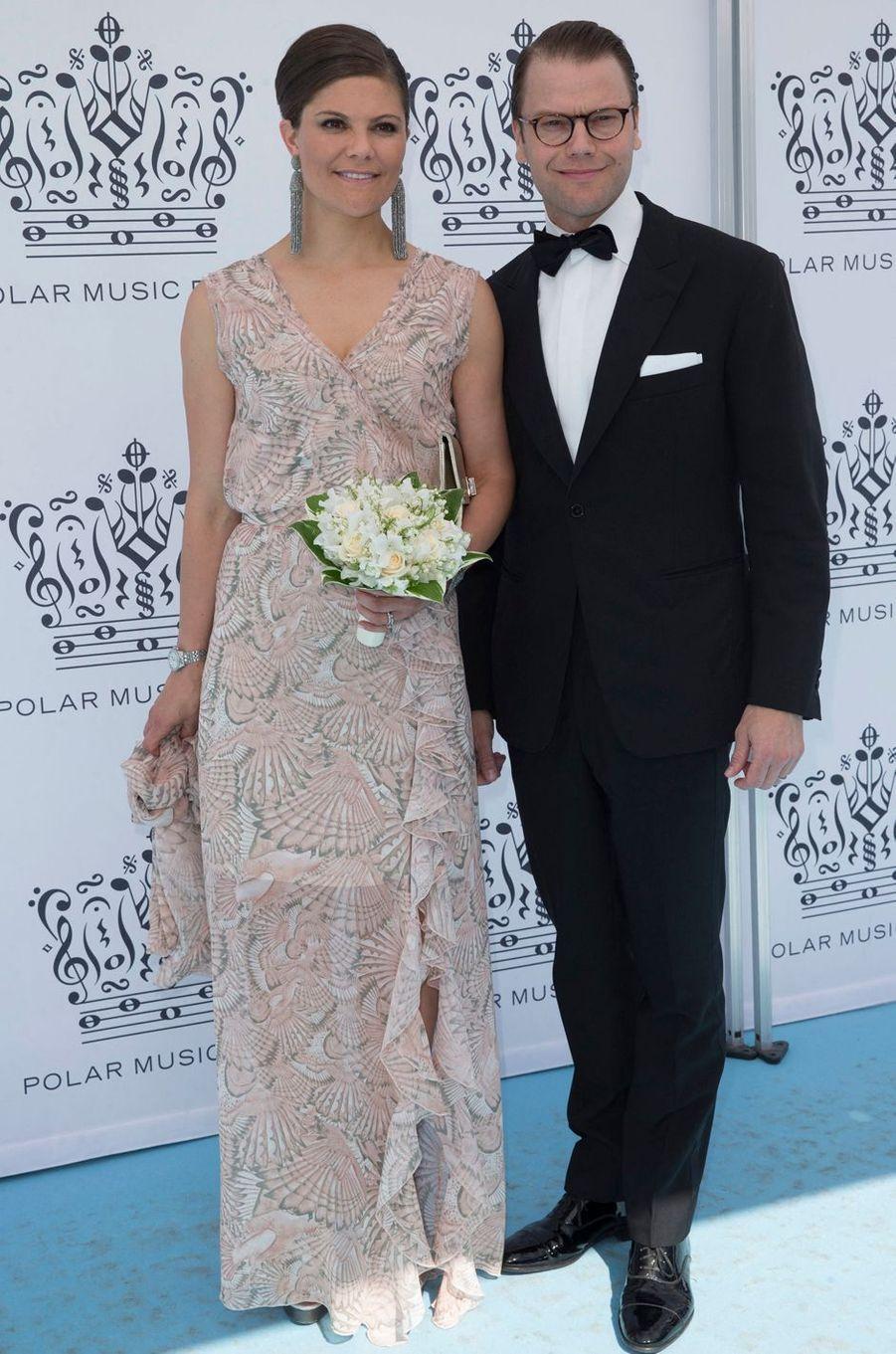 La princesse Victoria de Suède dans une robe House of Dagmar au Polar Music Prize, le 9 juin 2015