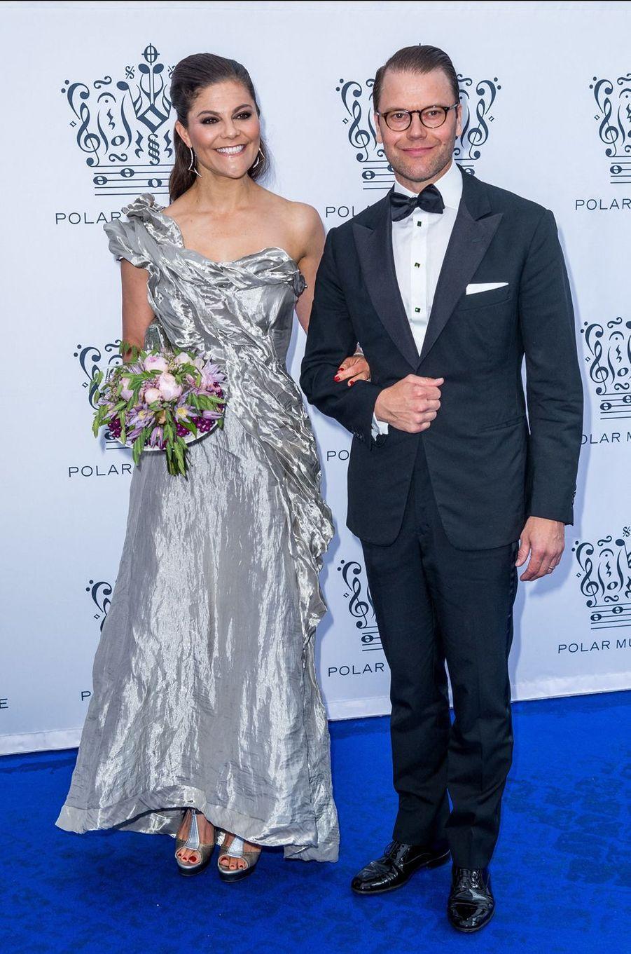 La princesse Victoria de Suède dans une robe Diana Orving au Polar Music Prize, le 15 juin 2017