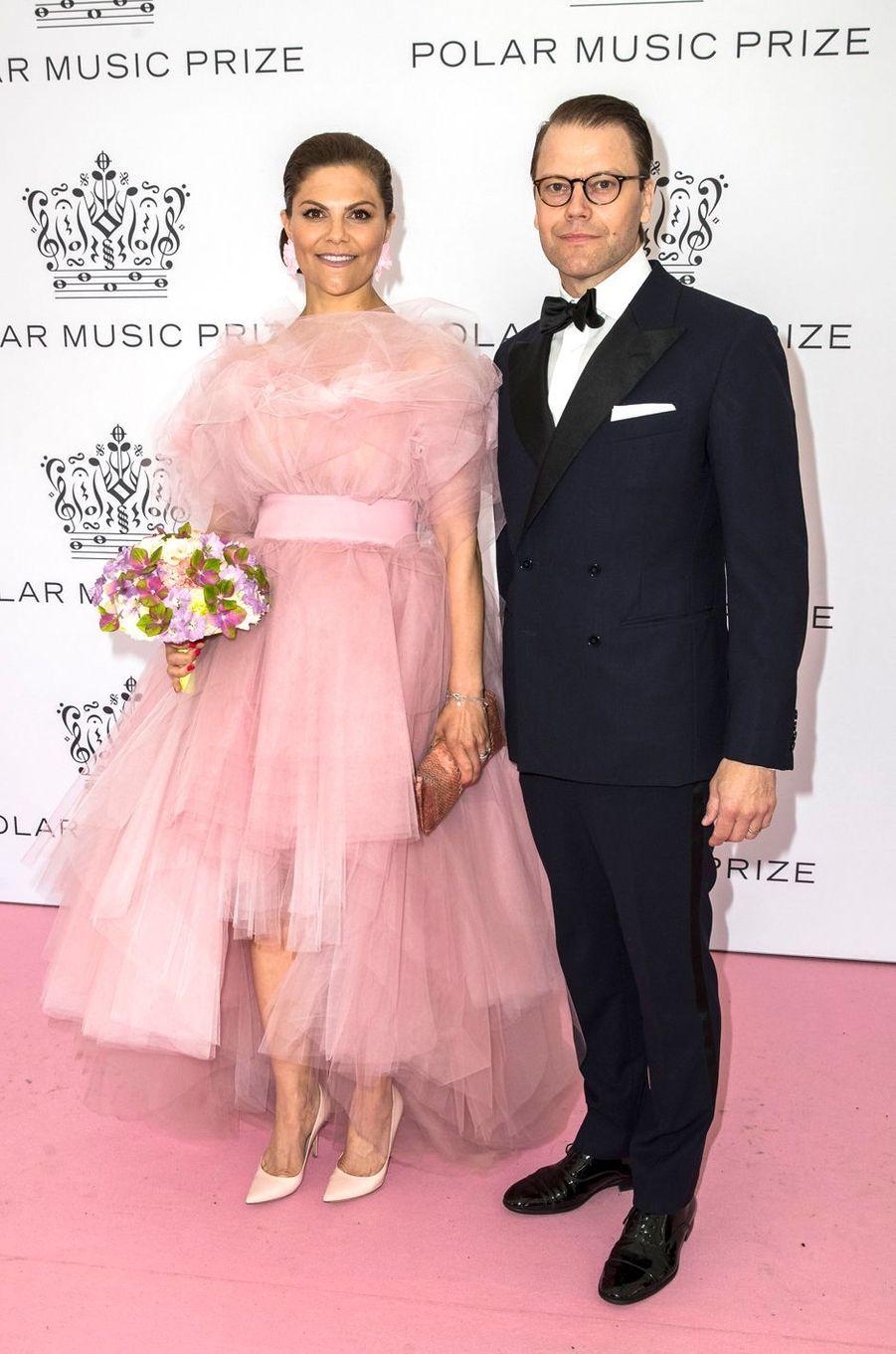 La princesse Victoria de Suède dans une robe Salem Fessahaye au Polar Music Prize, le 11 juin 2019