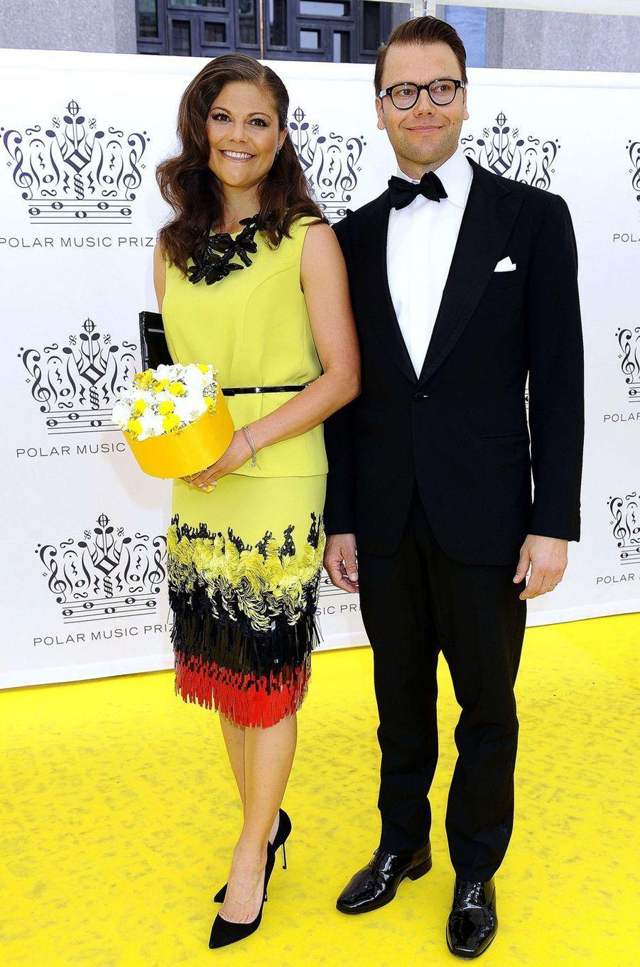 La princesse Victoria de Suède dans une robe Altewai Saome au Polar Music Prize, le 28 août 2012