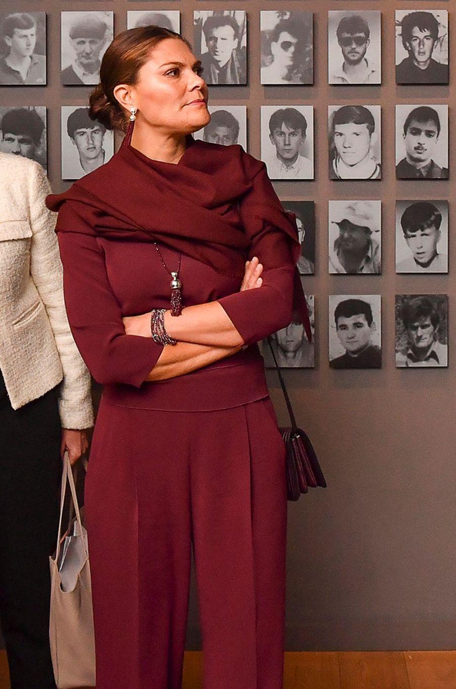 La princesse Victoria de Suède en Bosnie-Herzégovine, le 6 novembre 2019