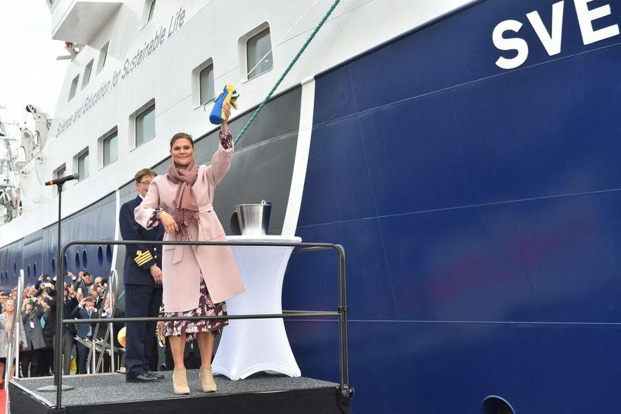 La princesse Victoria de Suède baptise un bateau à Lysekil, le 25 septembre 2019