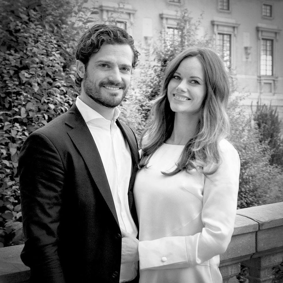 La photo officielle de l'annonce de la grossesse de la princesse Sofia, le 15 octobre 2015