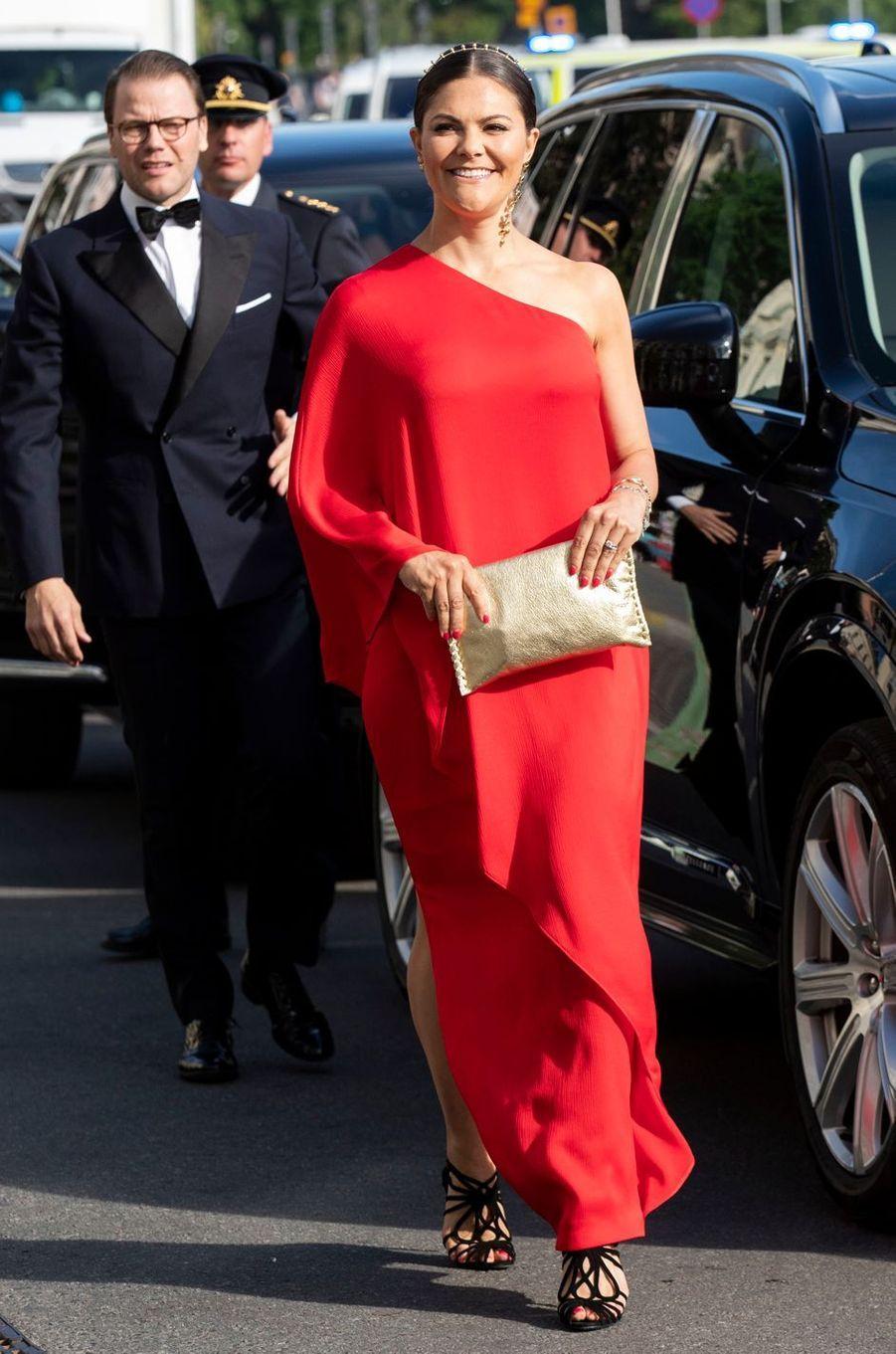 La princesse Victoria de Suède et le prince Daniel à Stockholm, le 14 juin 2018