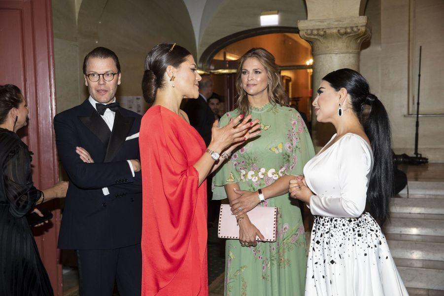 Les princesses Victoria et Madeleine de Suède à Stockholm, le 14 juin 2018