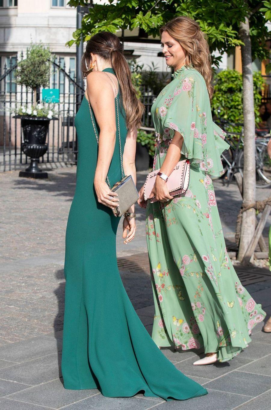 Les princesses Sofia et Madeleine de Suède à Stockholm, le 14 juin 2018