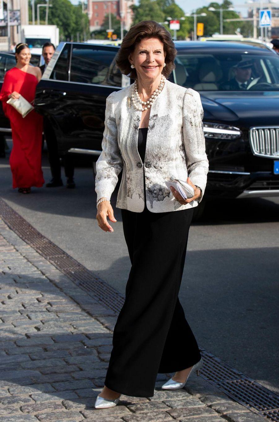 La reine Silvia de Suède à Stockholm, le 14 juin 2018