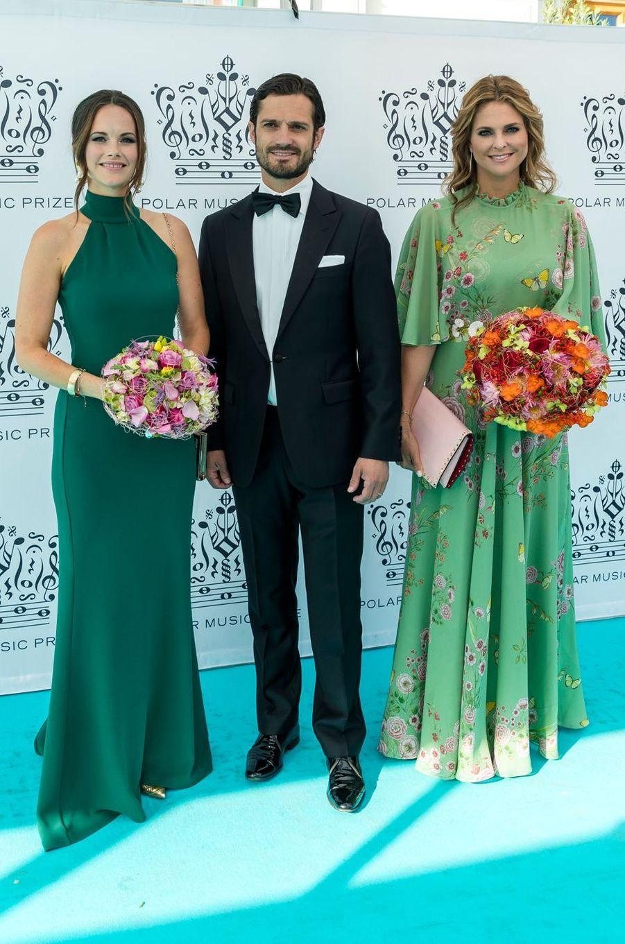 Les princesses Sofia et Madeleine et le prince Carl Philip de Suède à Stockholm, le 14 juin 2018