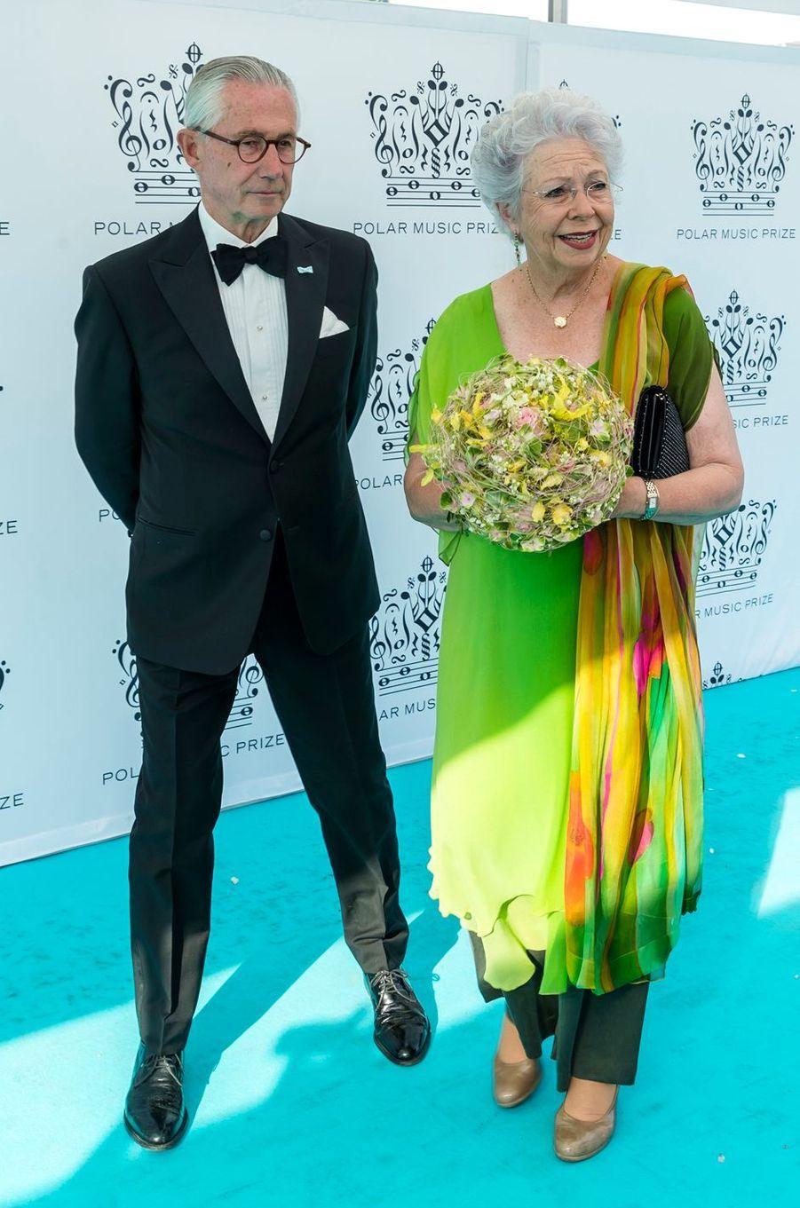 La princesse Christina de Suède et son mari Tord Magnuson à Stockholm, le 14 juin 2018