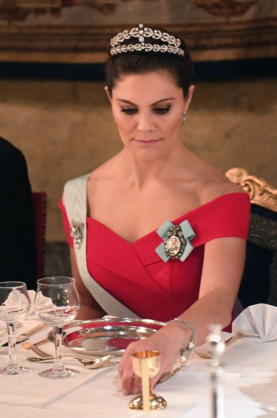 La princesse Victoria de Suède pour les Nobel, le 11 décembre 2018