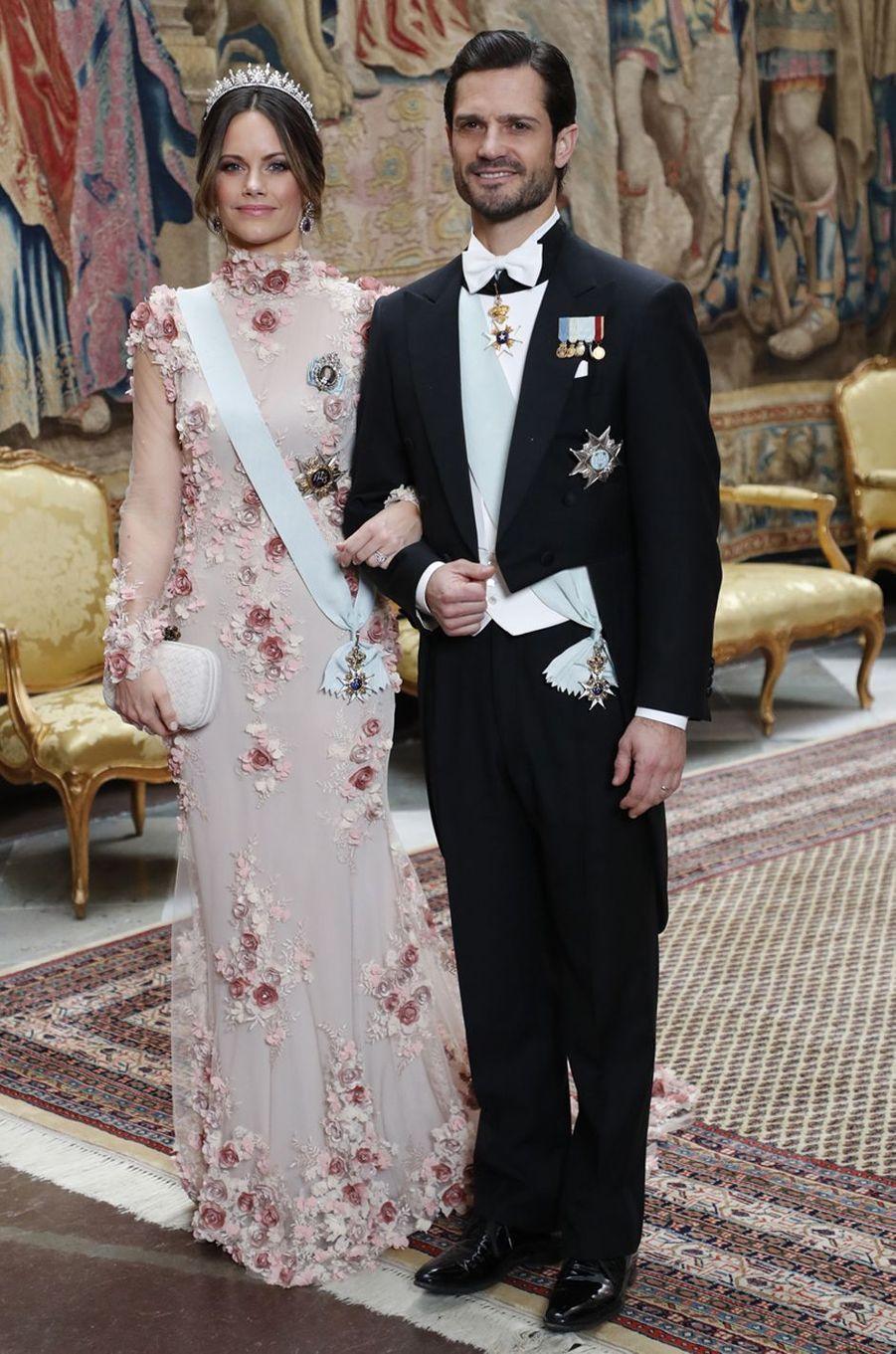 La princesse Sofia de Suède dans une robe de Ida Lanto, à Stockholm le 11 décembre 2019