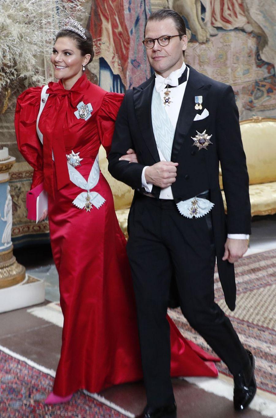 La princesse Victoria de Suède dans une robe de Pär Engsheden, à Stockholm le 11 décembre 2019