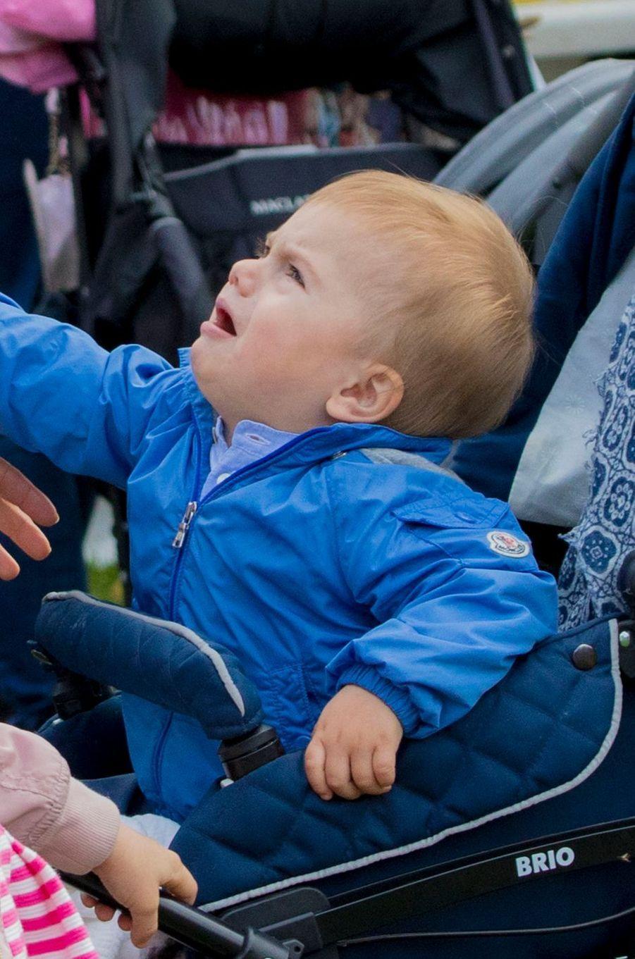 Le prince Oscar de Suède à Solna, le 10 septembre 2017