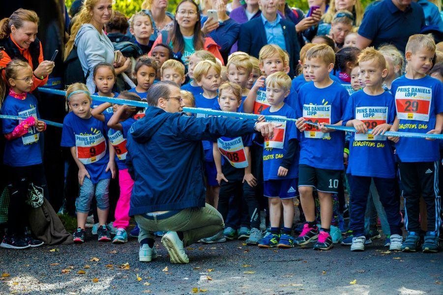 Le prince consort Daniel de Suède à Solna, le 10 septembre 2017