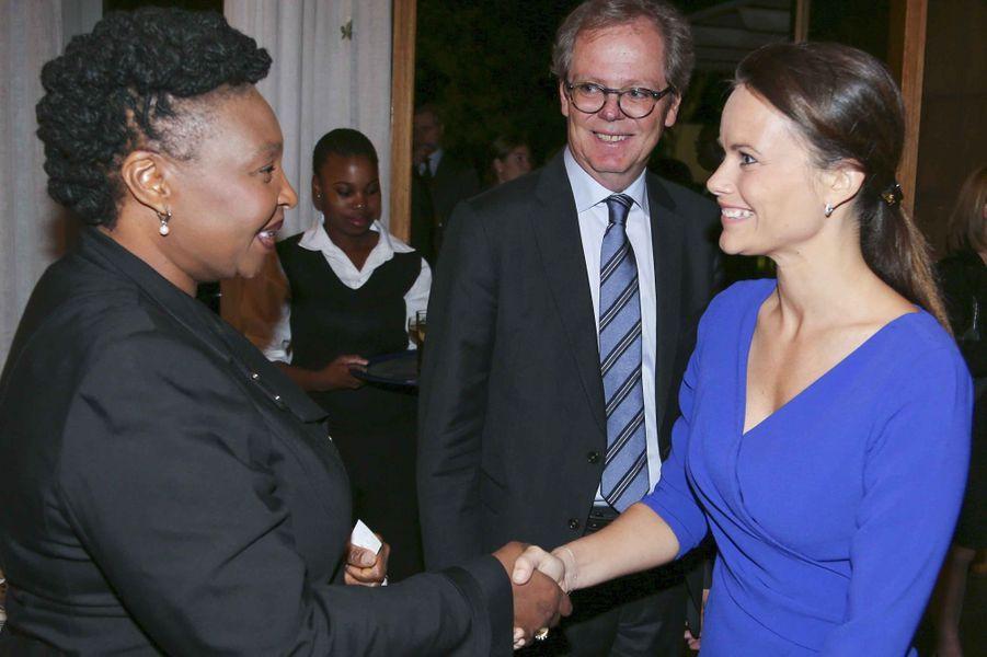 La princesse Sofia de Suède avec Yvonne Chaka Chaka à Pretoria, le 7 septembre 2015
