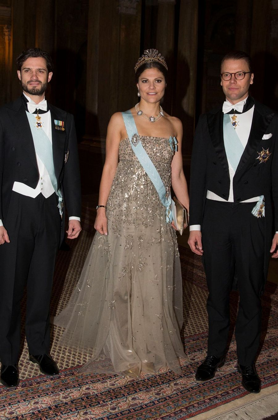 La princesse Victoria de Suède dans une robe Fadi el Khoury, le 10 décembre 2013