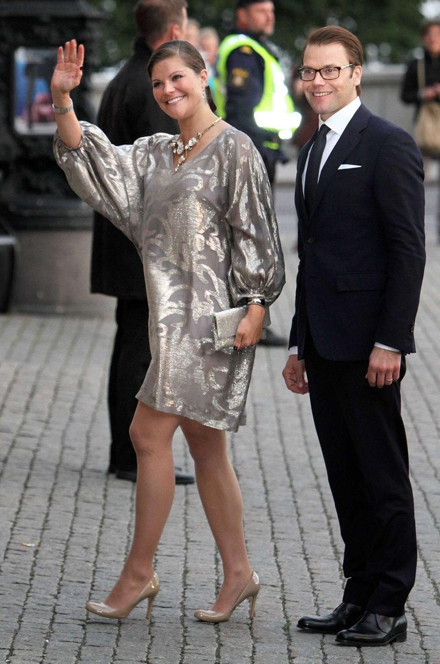 La princesse Victoria de Suède dans une robe Filippa K, le 15 septembre 2011