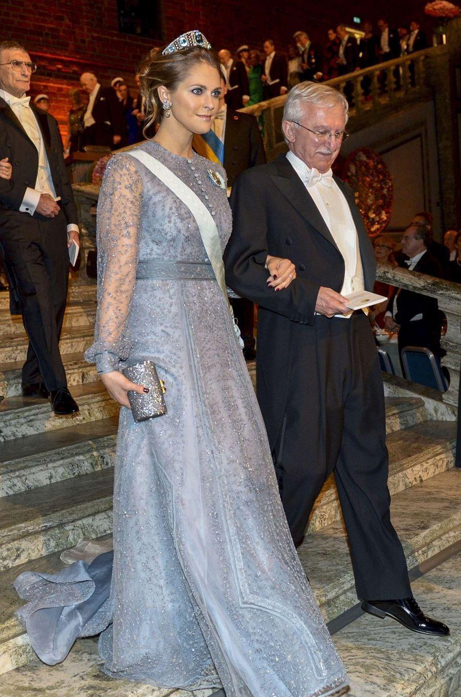 La princesse Madeleine de Suède à la cérémonie des Nobel, le 10 décembre 2015