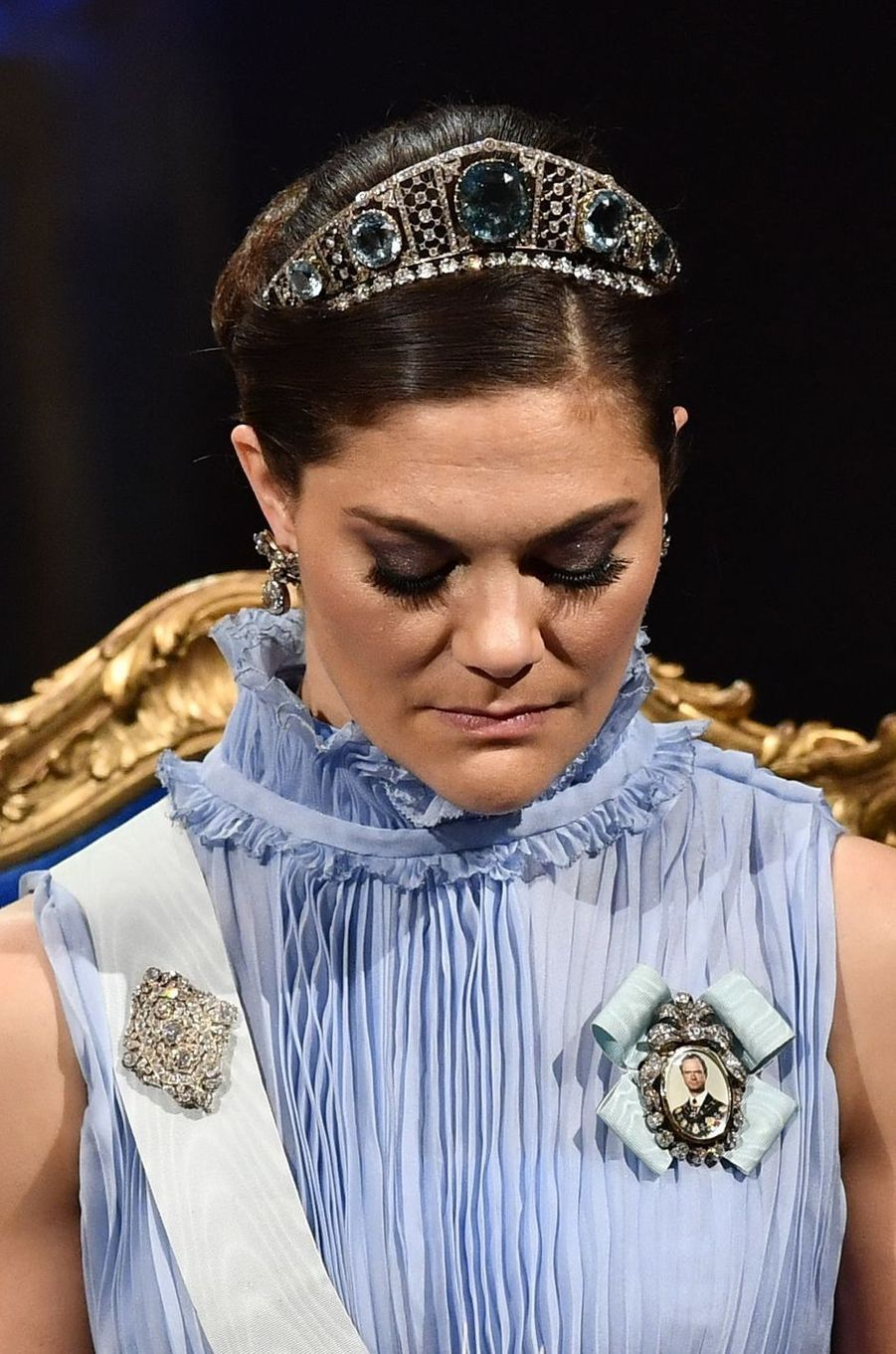 La princesse Victoria de Suède à la cérémonie des Nobel, le 10 décembre 2017