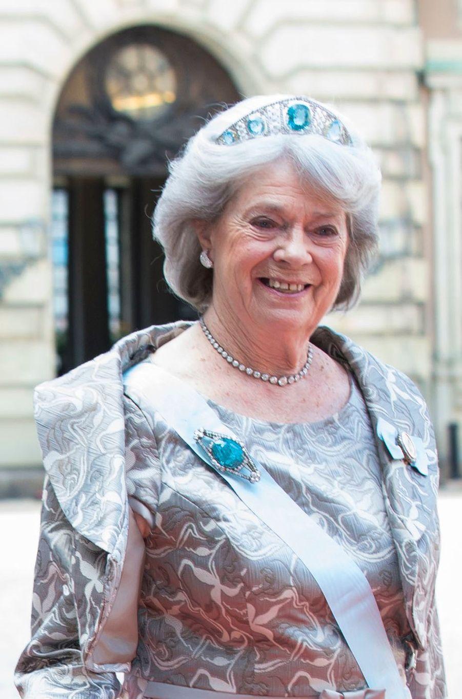 La princesse Margaretha de Suède au mariage du prince Carl Philip, le 13 juin 2015