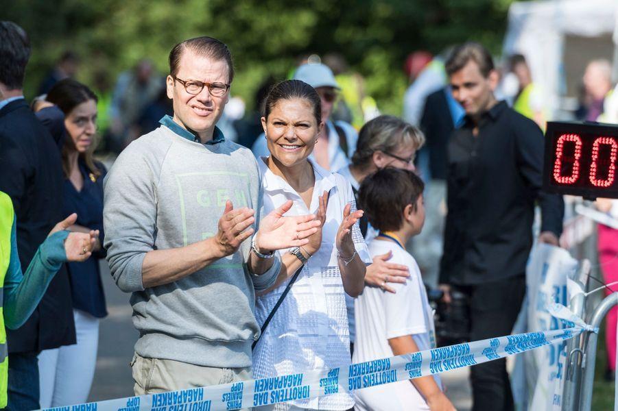 La princesse Victoria de Suède et le prince Daniel à Solna, le 11 septembre 2016