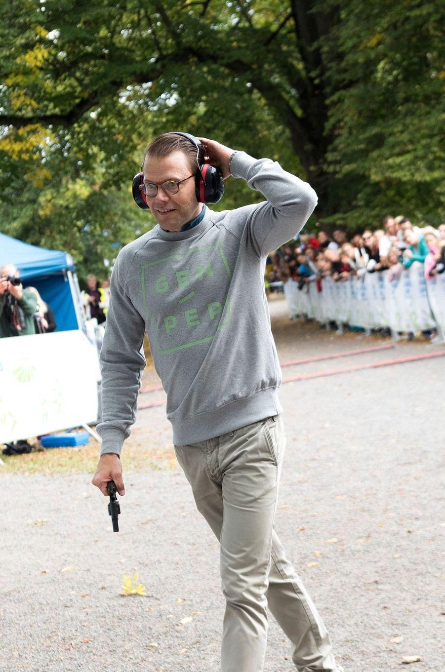 Le prince consort Daniel à Solna, le 11 septembre 2016