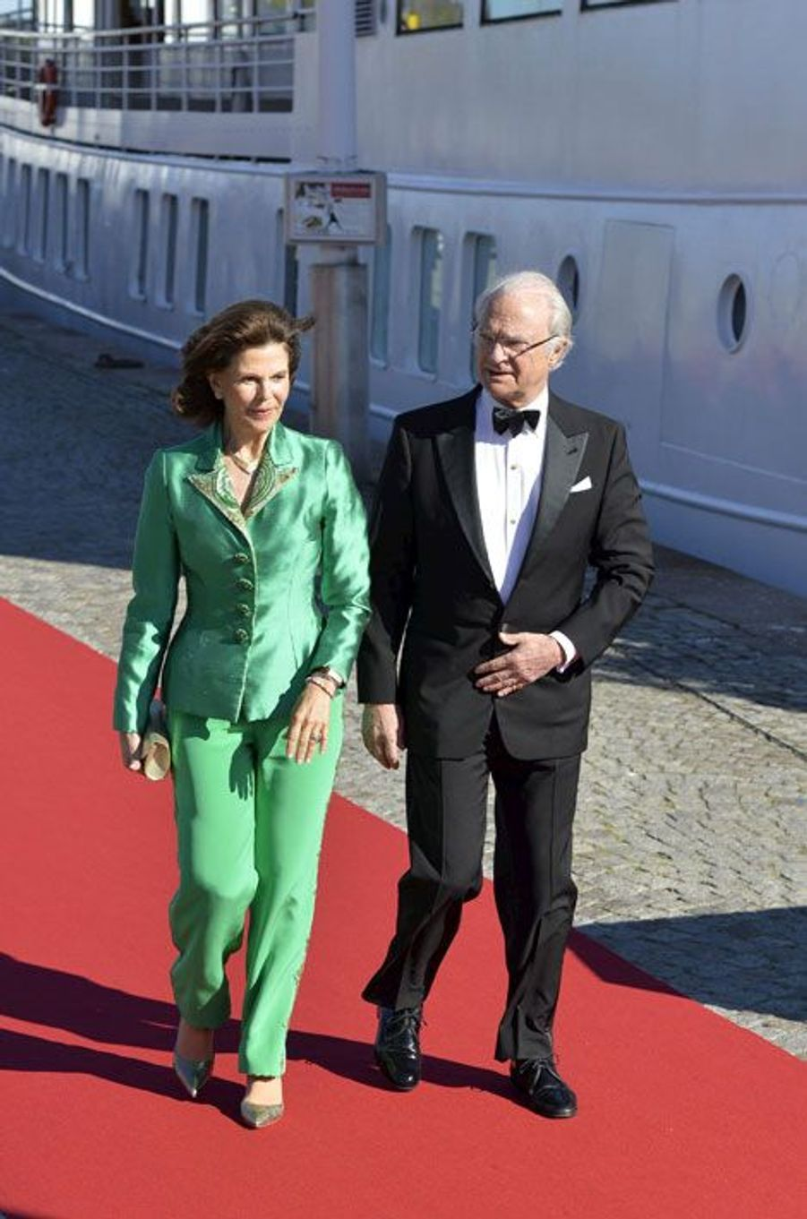 Le roi Carl Gustaf et la reine Silvia