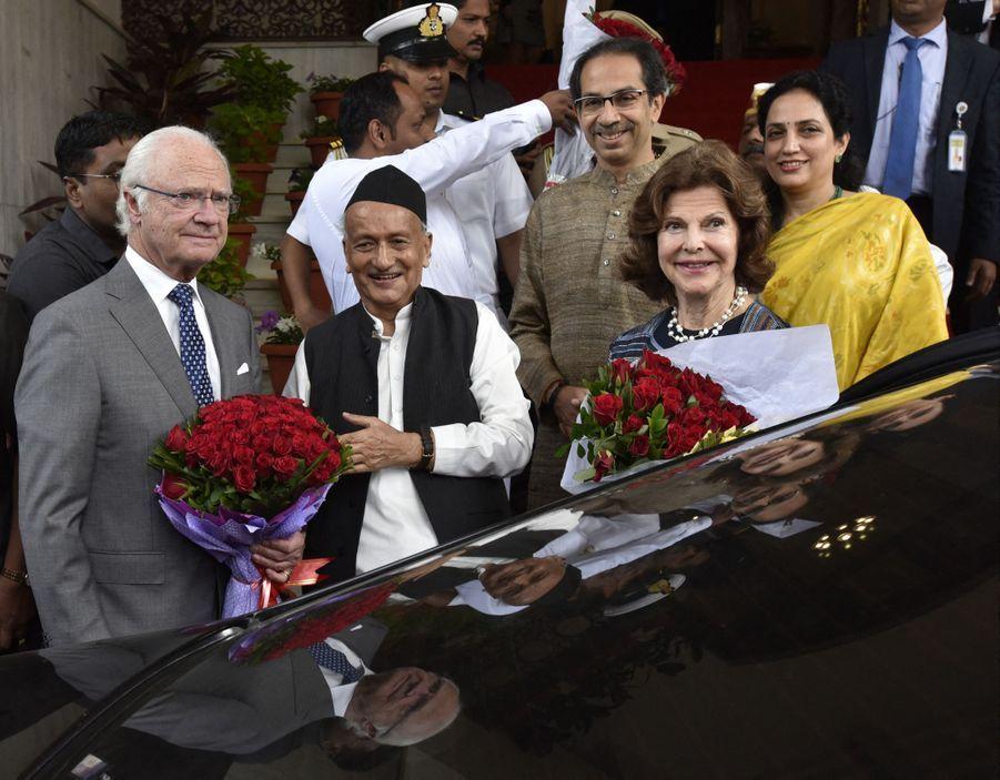 La reine Silvia et le roi Carl XVI Gustaf de Suède à Mumbai, le 4 décembre 2019