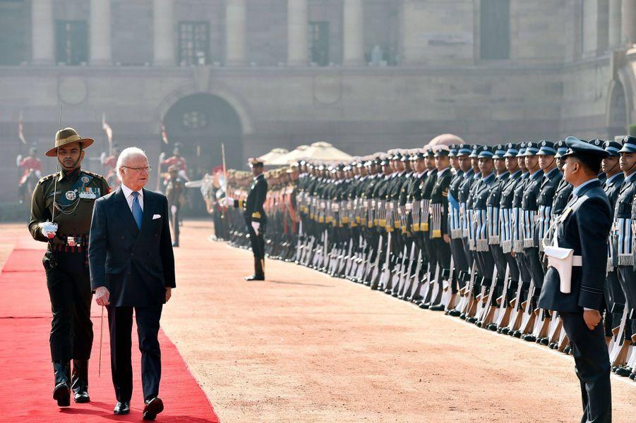 Le roi Carl XVI Gustaf de Suède à New Delhi, le 2 décembre 2019