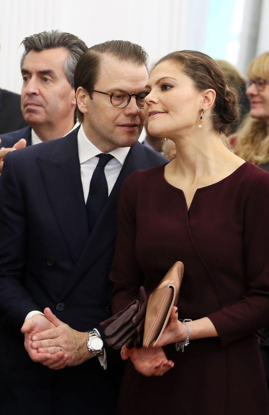 La princesse Victoria de Suède et le prince Daniel à Pau, le 8 octobre 2018