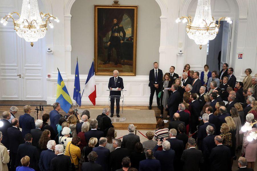 Le roi Carl XVI Gustaf de Suède à Pau, le 8 octobre 2018