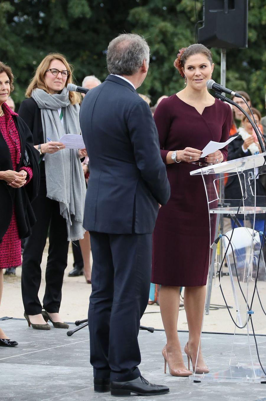 La princesse Victoria de Suède avec François Bayrou à Pau, le 8 octobre 2018