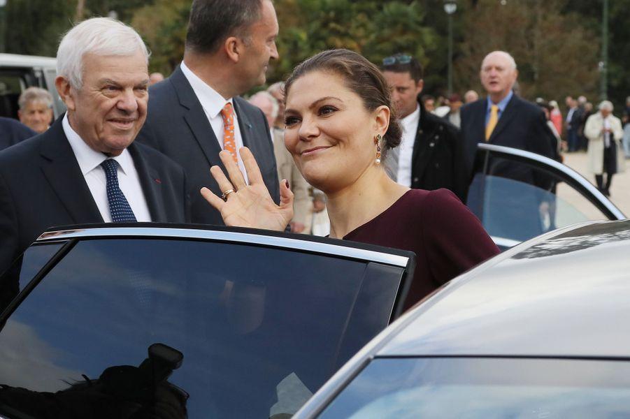 La princesse Victoria de Suède à Pau, le 8 octobre 2018