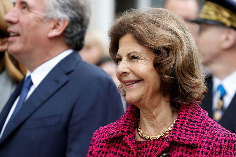 La reine Silvia de Suède à Pau, le 8 octobre 2018