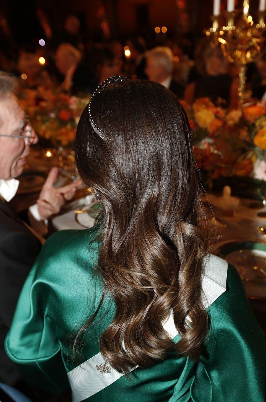 La coiffure de la princesse Sofia de Suède à Stockholm, le 10 décembre 2016