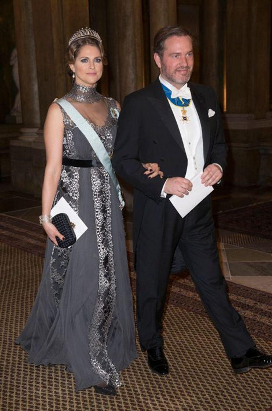 La princesse Madeleine de Suède avec Christopher O'Neill, le 11 décembre 2015