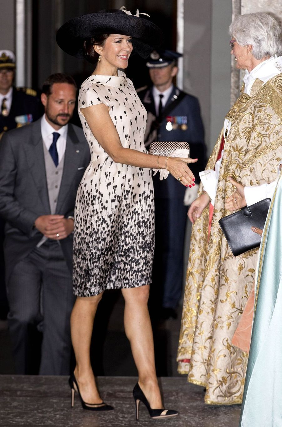 La princesse Mary de Danemark en Max Mara à Stockholm, le 27 mai 2016