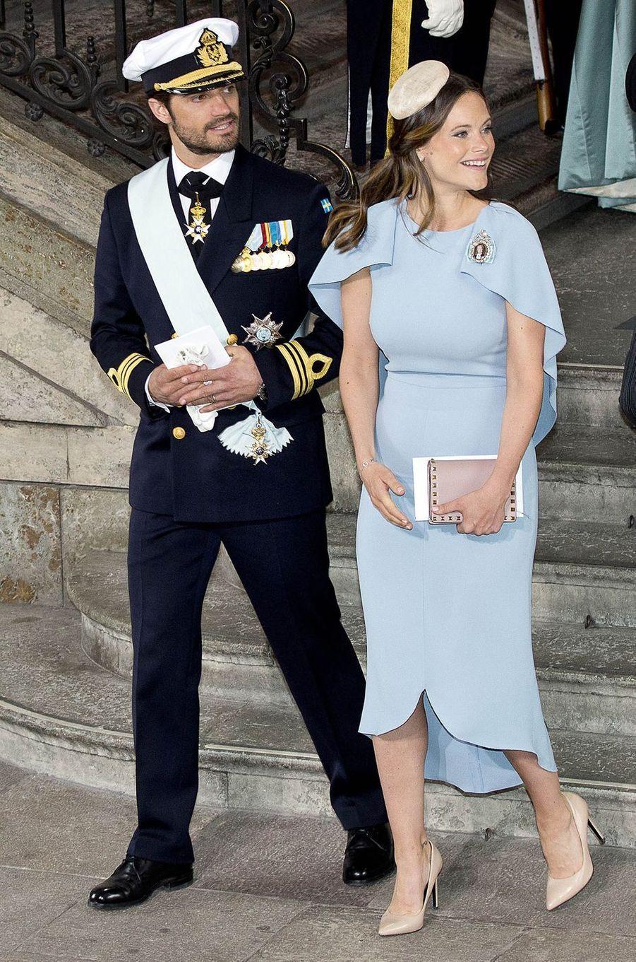 La princesse Sofia de Suède en Antonio Berardi à Stockholm, le 27 mai 2016