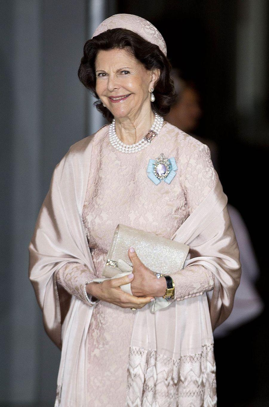 La reine Silvia de Suède à Stockholm, le 27 mai 2016