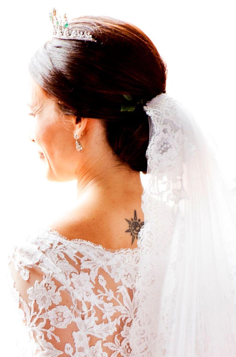 Sofia Hellqvist le jour de son mariage le 13 juin 2015