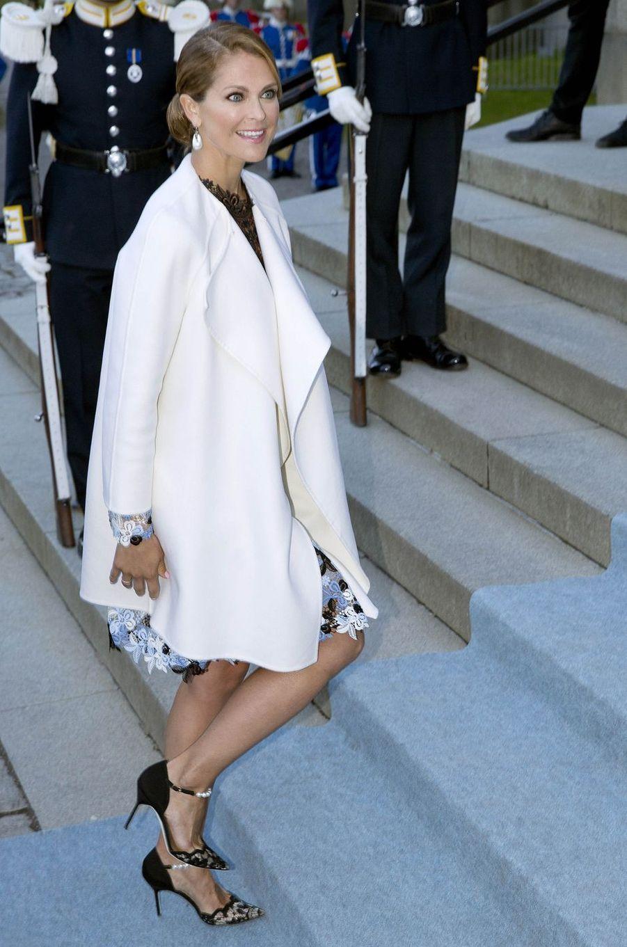 La princesse Madeleine de Suède à Stockholm, le 29 avril 2016